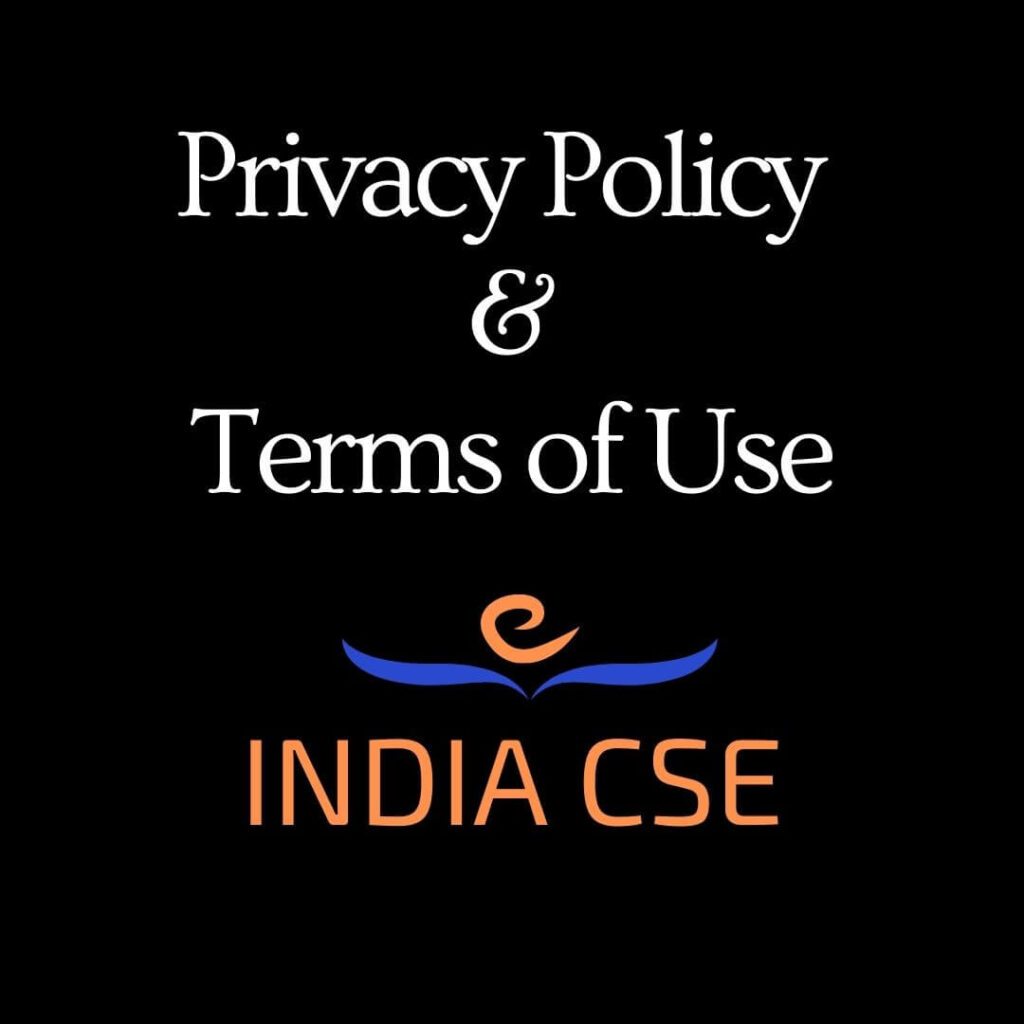 disclaimer Privacy Policy and terms of use Indiacse