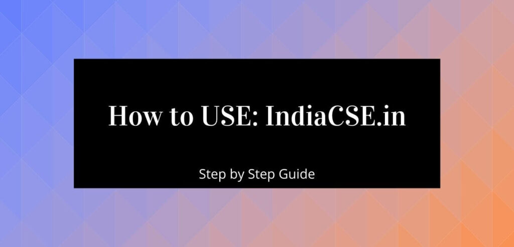 Step by Step guide on how to order on Indiacse