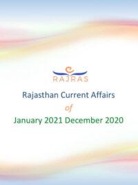 RajRAS Rajasthan Current Affairs January 2021 December 2020 Rajras Download PDF